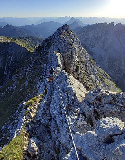 Bergtour Hochplatte Grat